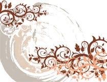 Vector grunge bloemenachtergrond Stock Foto's