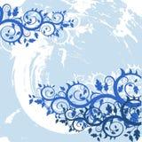 Vector grunge bloemenachtergrond vector illustratie