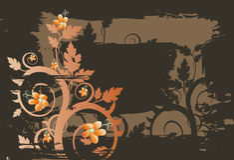 Vector grunge bloemenachtergrond Stock Fotografie