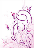 Vector grunge bloemenachtergrond royalty-vrije illustratie