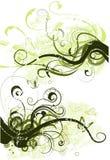 Vector grunge bloemenelementen Royalty-vrije Stock Foto's