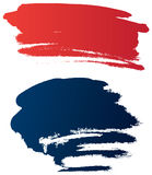 Vector grunge brushes. Colored grunge brushes, vector illustration Royalty Free Stock Image