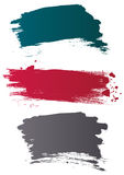 Vector grunge brushes. Grunge colored brushes, vector illustration Royalty Free Stock Photography