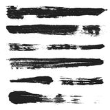 Vector Grunge Brushes Set 3 Stock Photos
