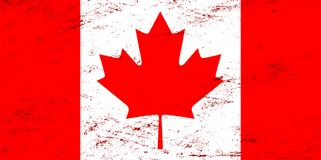 Vector grunge Canada flag background Stock Photo