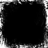 Vector grunge chalk frame on blackboard background. Royalty Free Stock Photography
