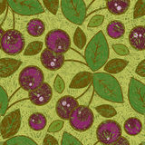 Vector grunge cherry pattern Royalty Free Stock Photos