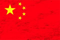 Vector grunge China flag background Royalty Free Stock Photography