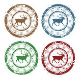 Vector grunge Christmas stamps Royalty Free Stock Photo