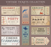 Vector Grunge Cinema tickets Royalty Free Stock Image