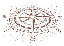 vector grunge compass Stock Images