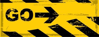Vector grunge danger banner Stock Image
