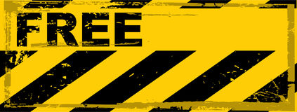 Vector grunge danger banner Stock Photography
