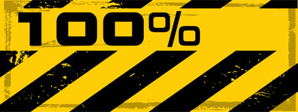 Vector grunge danger percent banner Royalty Free Stock Photography