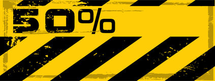 Vector grunge danger percent banner Royalty Free Stock Photos