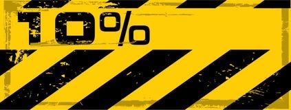Vector grunge danger percent banner Stock Image