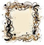 Vector grunge decoratief frame Stock Afbeeldingen