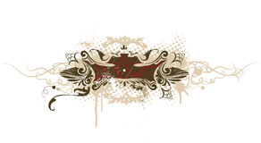 Vector Grunge Decorative Banner Stock Photo