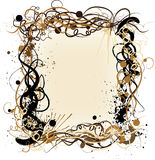Vector grunge decorative frame. It can be used for superscribe Stock Images