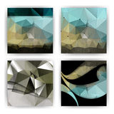 Vector grunge effect on triangular shapes business background Royalty Free Stock Images