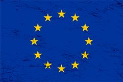 Vector grunge European Union flag background Stock Photo