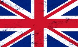 Vector grunge flag of the united kingdom background.  Stock Images