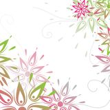 Vector grunge floral background Stock Images