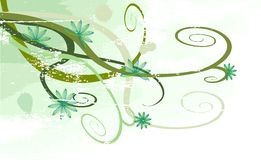 Vector Grunge Floral Background royalty free illustration