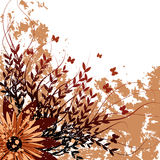 Vector grunge floral background. Stock Photos