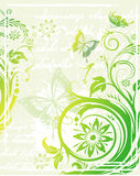 Vector grunge floral background Royalty Free Stock Photography