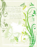 Vector grunge  floral background Stock Image
