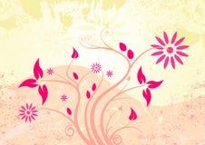 Vector grunge floral design Stock Image