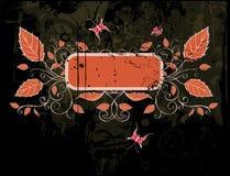 Vector grunge floral frame. Floral frame on a grunge background Stock Photo