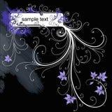 Vector grunge floral frame Stock Photos