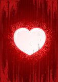 Vector grunge floral red heart frame stock photography