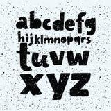 Vector grunge font royalty free illustration