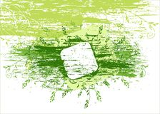 Vector grunge green background Stock Images