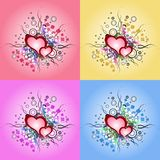 Valentine day, illustration vintage design element. Vector grunge heart. Royalty Free Stock Photo