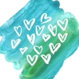 Vector grunge heart, Valentine day, illustration vintage design element Royalty Free Stock Photos