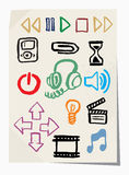 Vector Grunge Icons Set Royalty Free Stock Images