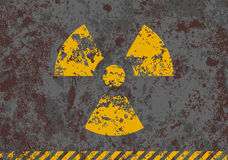 Vector grunge illustration of radiation sign Stock Photography