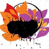 Vector grunge leaf background Royalty Free Stock Image