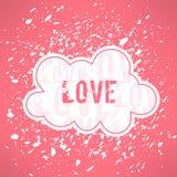Vector grunge love inspirational background. Cute Stock Photos