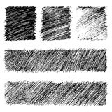 Vector grunge monochrome textures & patterns set Stock Image