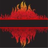 Vector grunge mooie frame achtergrond met brand Stock Afbeeldingen
