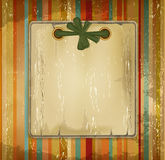 Vector grunge old album with a bow on the striped Stock Images
