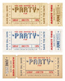 Vector Grunge Party Invites. An high detail grunge vintage Invitation Template to a party or celebration Royalty Free Stock Photography