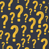 Vector grunge question mark seamless pattern Stock Photography