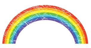 Vector grunge rainbow Stock Photography