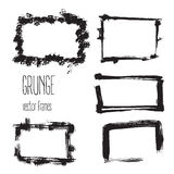 Vector grunge rectangle frames. Hand drawn art collection. Stock Photo